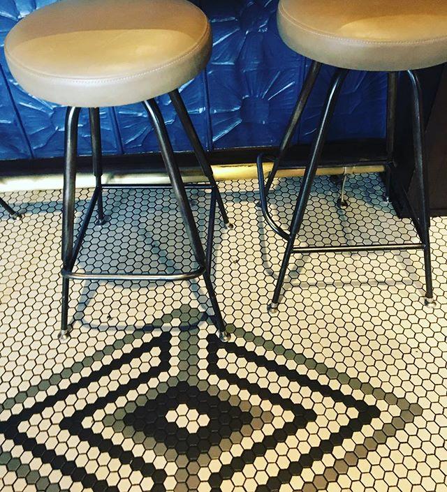 Loving this tile design detail at Compere Lapin. #interiordesign#interior #interiordetails#neworleans#interiorinspiration#restaurantdesign  #comperelapin#cabellcooperdesign