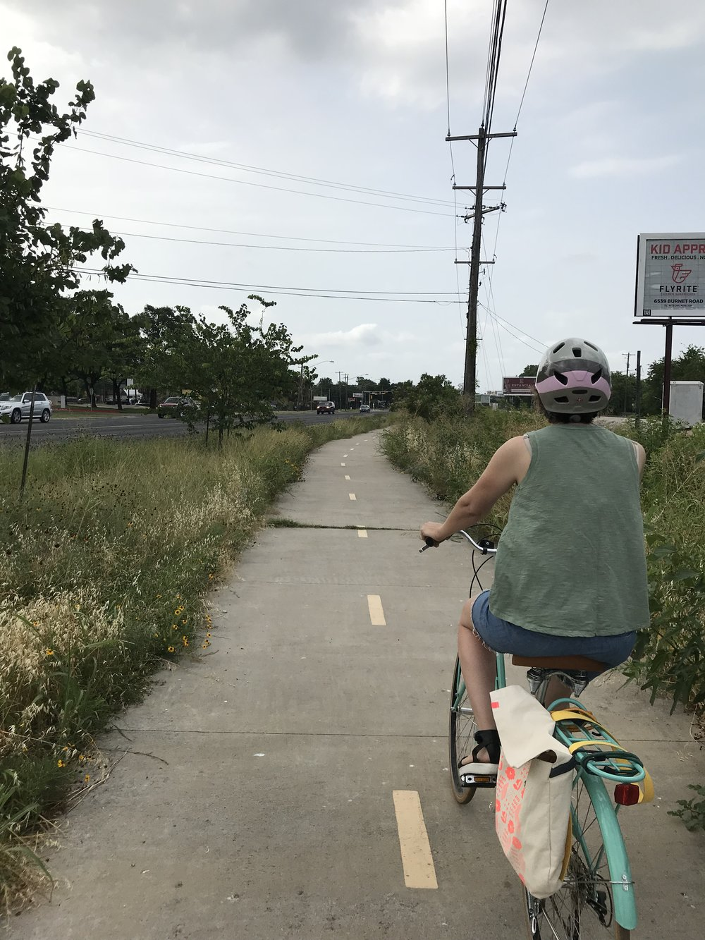 Airport Boulevard Red Line Trail - Beautiful wildflowers line the path, making for an easy and safe ride. Could use some shade trees, however...