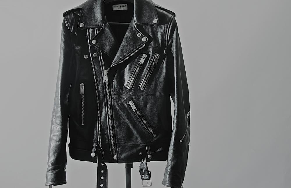 One of Slimane's signature biker jackets