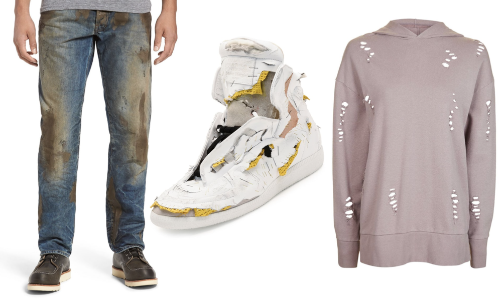 PRPS Jeans, Margiela Shoes, Topshop Hoodie.Photograph: The Guardian, Originally PR Company Handouts