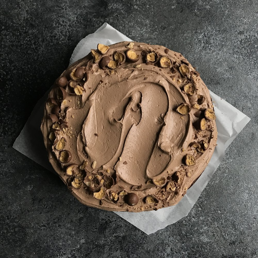Malted Chocolate Fudge Classic Cake  £40.00