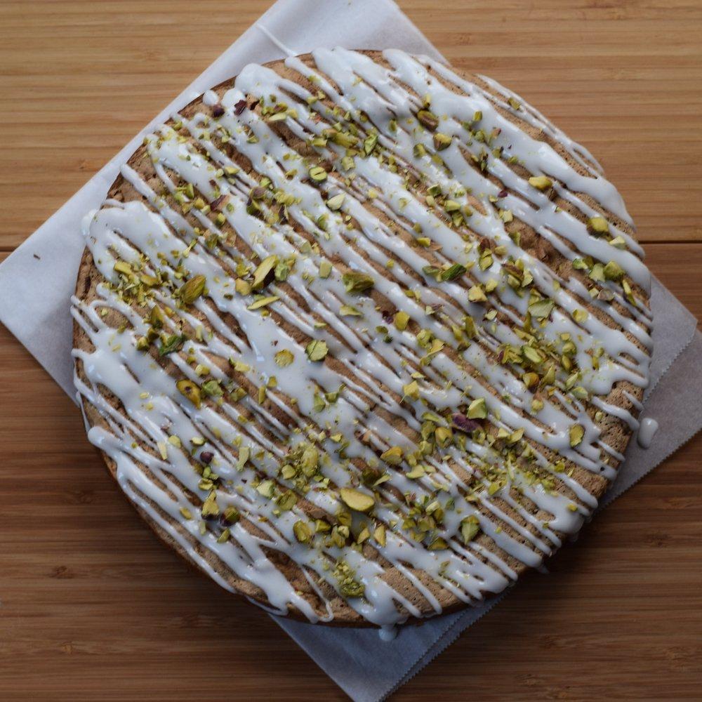 Courgette, Lemon & Pistachio Cake  £32.00