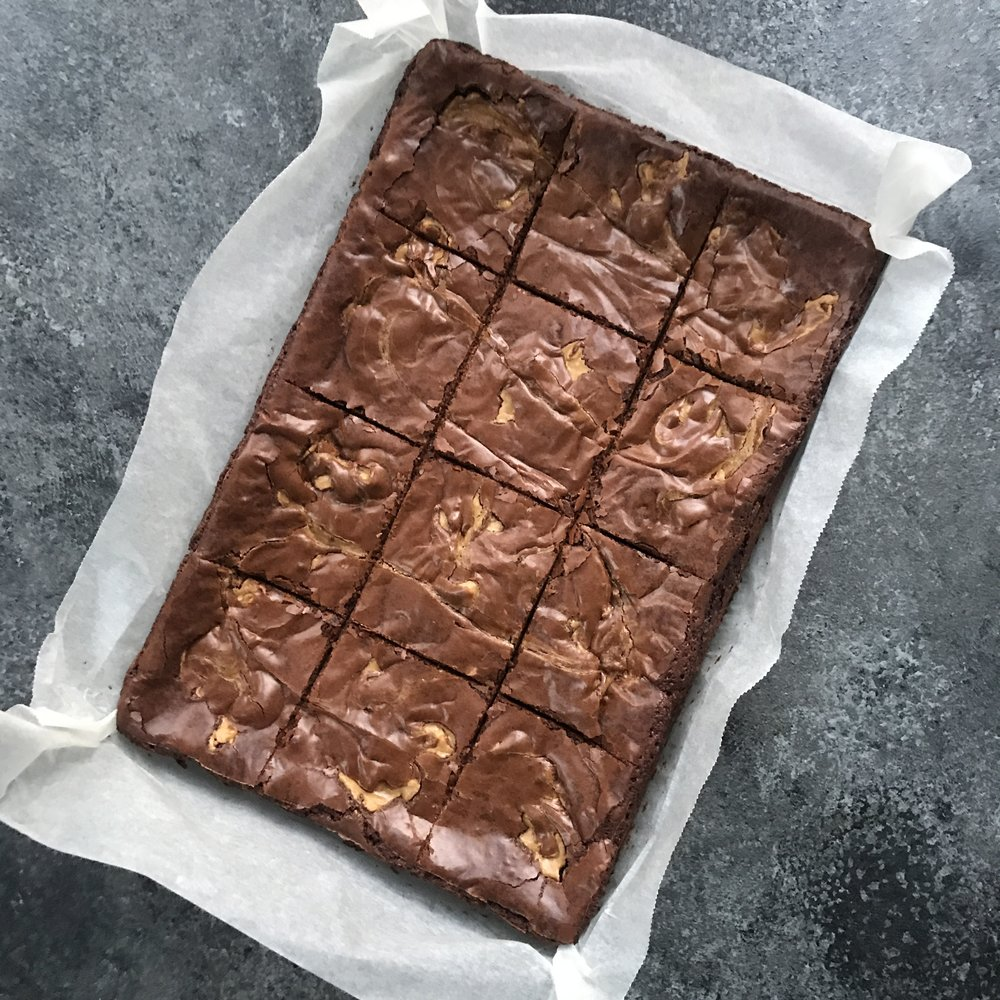 Peanut Butter Brownies  12 for £26.00 // 20 for £39.00
