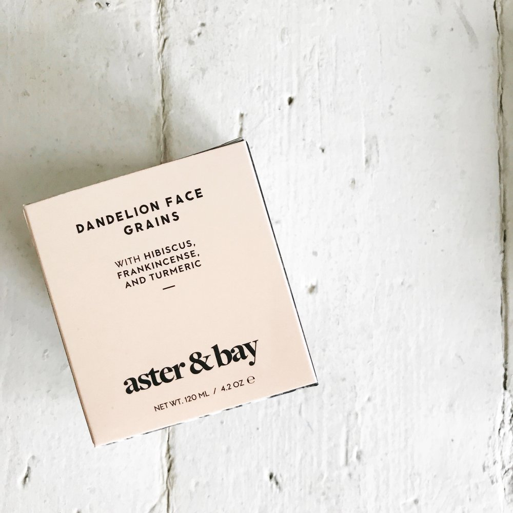 ourstorytime.co.uk | aster & bay dandelion face grains | natural beauty | organic beauty | gorgeous packaging