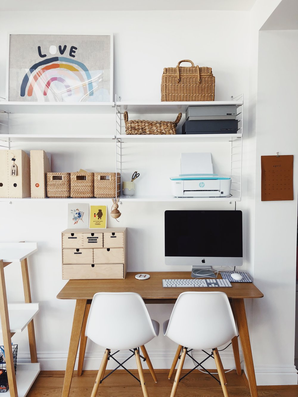 Blogging tips: what I've learnt from blogging in my journey after more than a decade of blogging. Blogging advice. Blogging for beginners. On my blog ourstorytime.co.uk desk space boho desk space white eames chairs