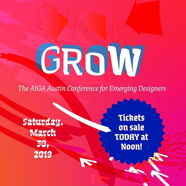 Tickets on sale today for GROW, @aigaaustin's brand new conference for emerging designers! Link in bio! . . . #conference #atx #aigaatx #design #growwithAIGA
