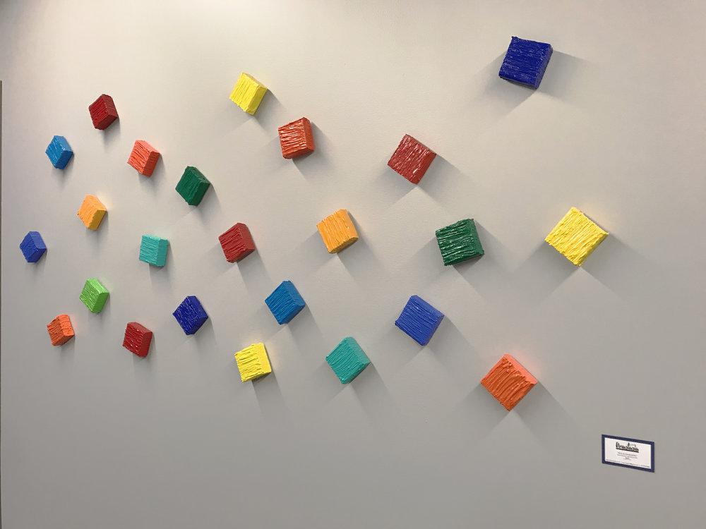 """""""Kaleidoscope"""" Textured wood installation; Available."""