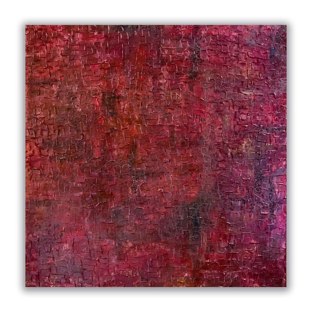 """Philosophy & Surface"" 24""x24"" Acrylic on Canvas.  Available."