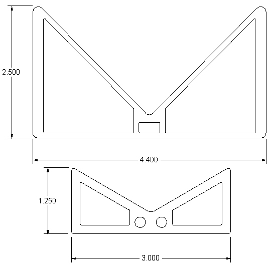 New design for the Trays (above) vs. the old Tray (below)