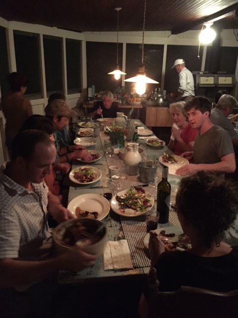 Workshop dinner prepared by guest chef Melissa Fernandez and Eric VanderMolen.