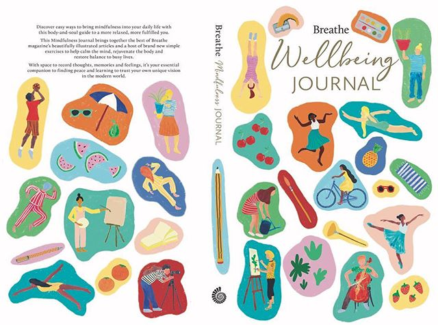 I wanted to share the cover I illustrated a while back for the Breathe Wellbeing journal. This for me sits next to my bed and is a reminder to keep doing the things that keep me happy, healthy and well.  I am lucky enough to live a few doors along from a very beautiful beach and so I try and get out into nature at least once a day to clear my head after a day in the studio. I've also included swimming as when it's warm enough theres nothing better for me than a dip in the sea. That, some yummy cherries and a lot of sleep are my magic formulas! @teenbreathe @justbreathemagazine