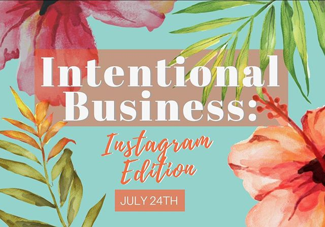 """We are SOO happy to say that the tickets to our NEXT event: """"Intentional Business: Instagram Edition"""" are FINALLY LIVE! LINK IN BIO! 🎉🎉 . . DETAILS:  When? July 24TH 630-9 PM  Where? The Point in Mission Bay  What to wear? All things Hawaiian🌸☀️🏖 . CANNOT WAIT TO SEE ALL YOU BABES THERE!! 💕TAG A BUSINESS BABE YOU THINK SHOULD COME!"""