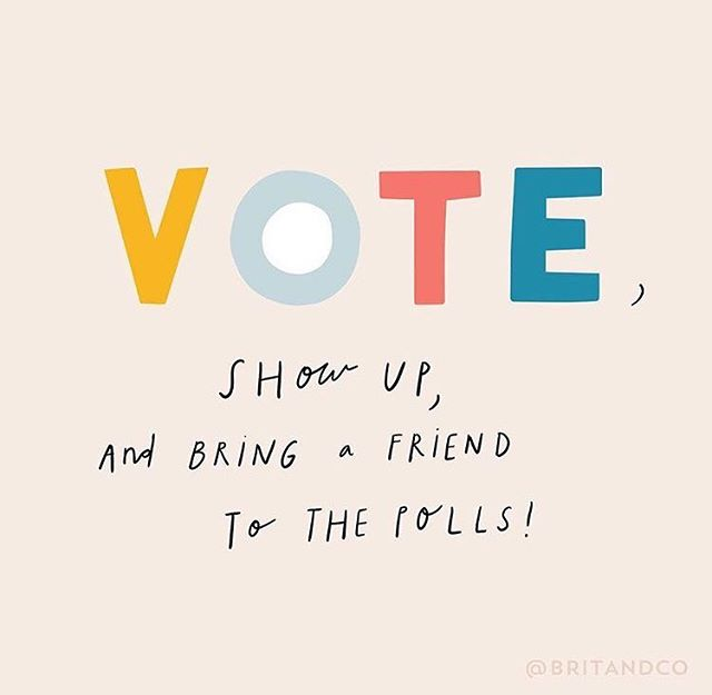 She came, she saw, she voted!🙌🏽 - Make sure voting is on your to-do list today! Your voice matters and we are the change!🌟 - 📷: @britandco