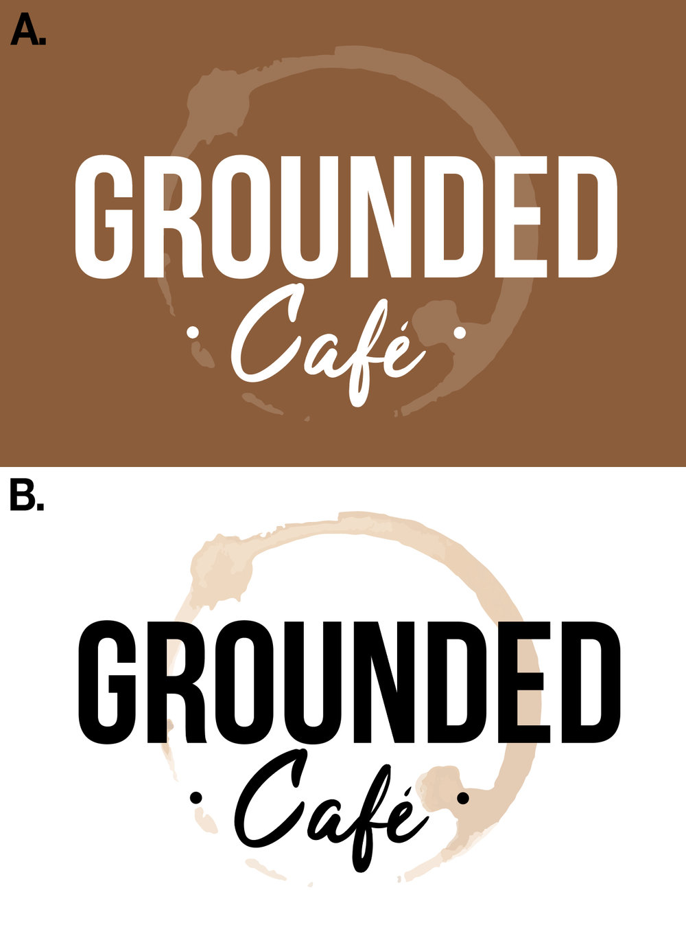 Grounded Cafe - Logo Design