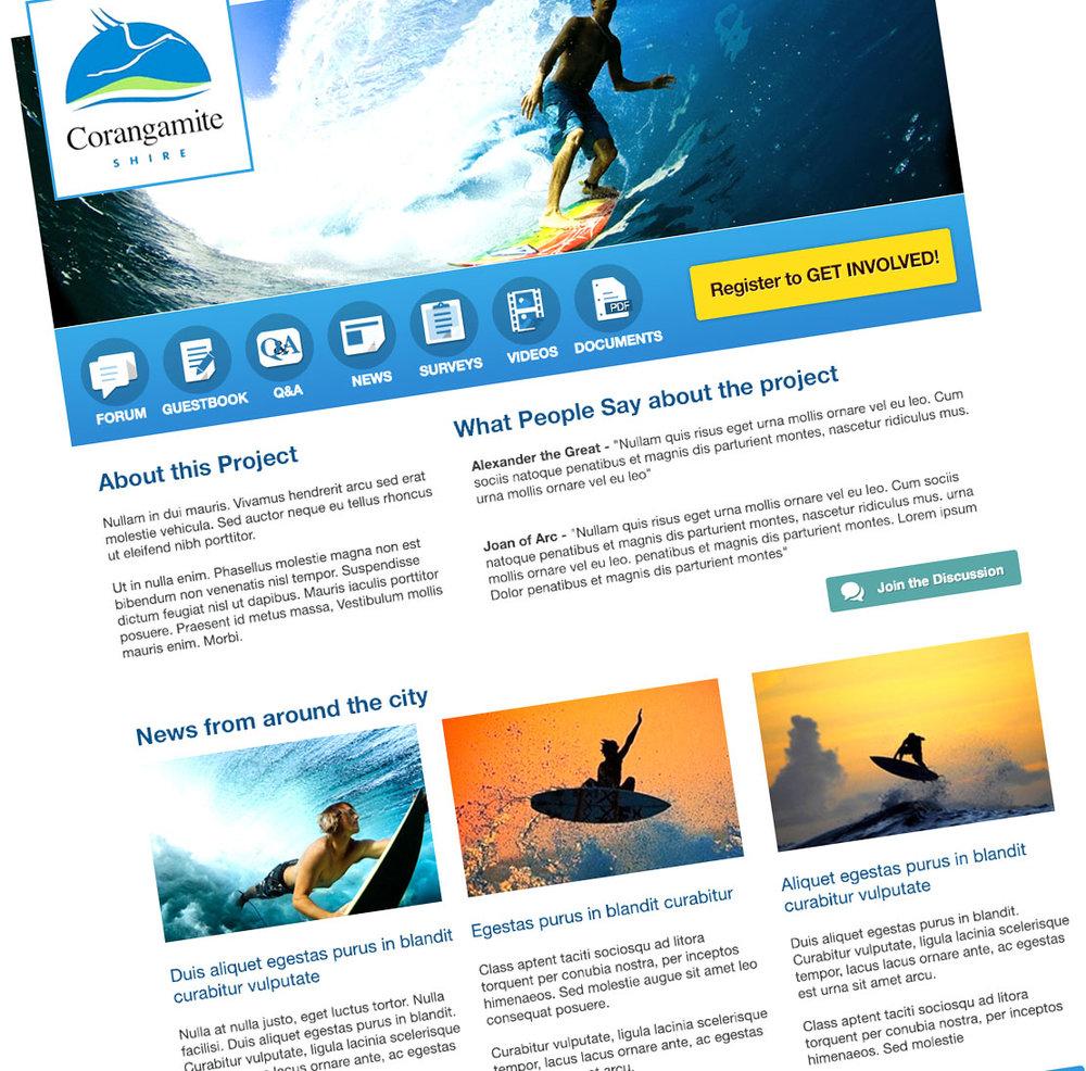 EHQ - Homepage Design
