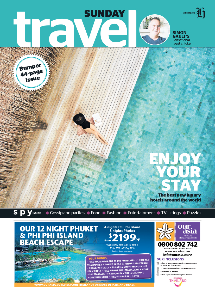 03182018 NZ Herald on Sunday - Travel front cover Six Senses Fiji.jpg