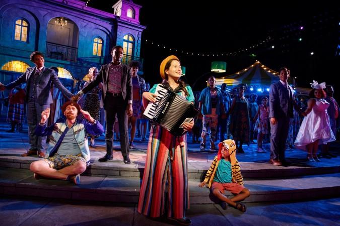 Shaina Taub and company (red cast). Photo credit: Joan Marcus