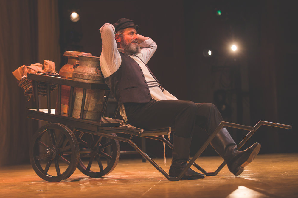 """If I Were A Rich Man"", or ""Rothschild""; Steven Skybell as Tevye. Photo credit: Victor Nechay / ProperPix"