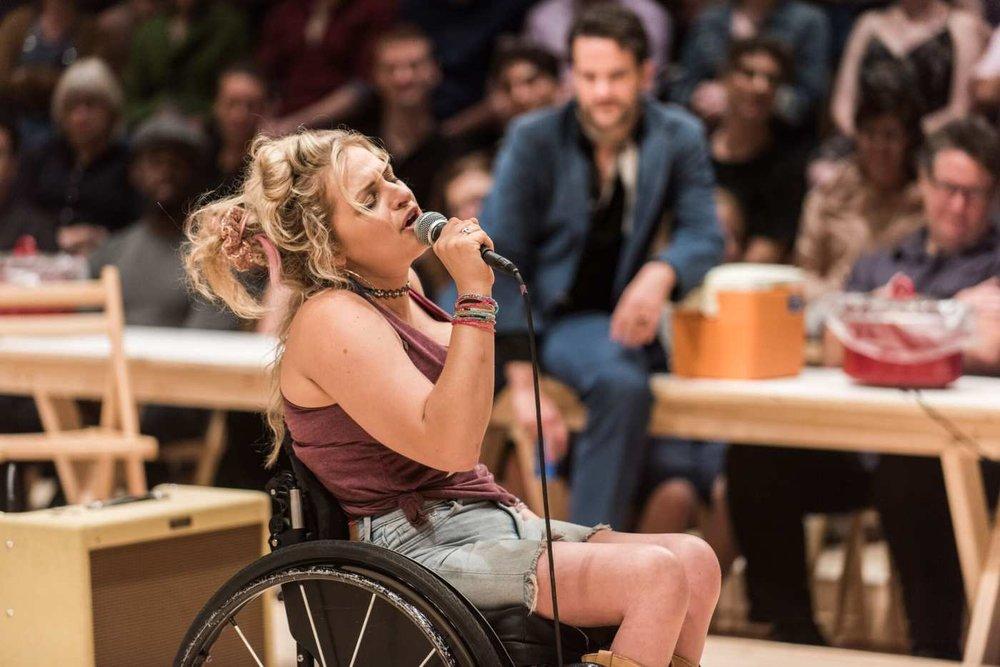 Ali Stroker at Ado Annie. Photo Credit: Teddy Wolff.