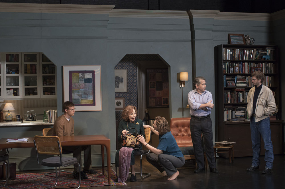 Lucas Hedges, Elaine May, Joan Allen, David Cromer and Michael Cera. Photo Credit: Brigitte Lacombe.