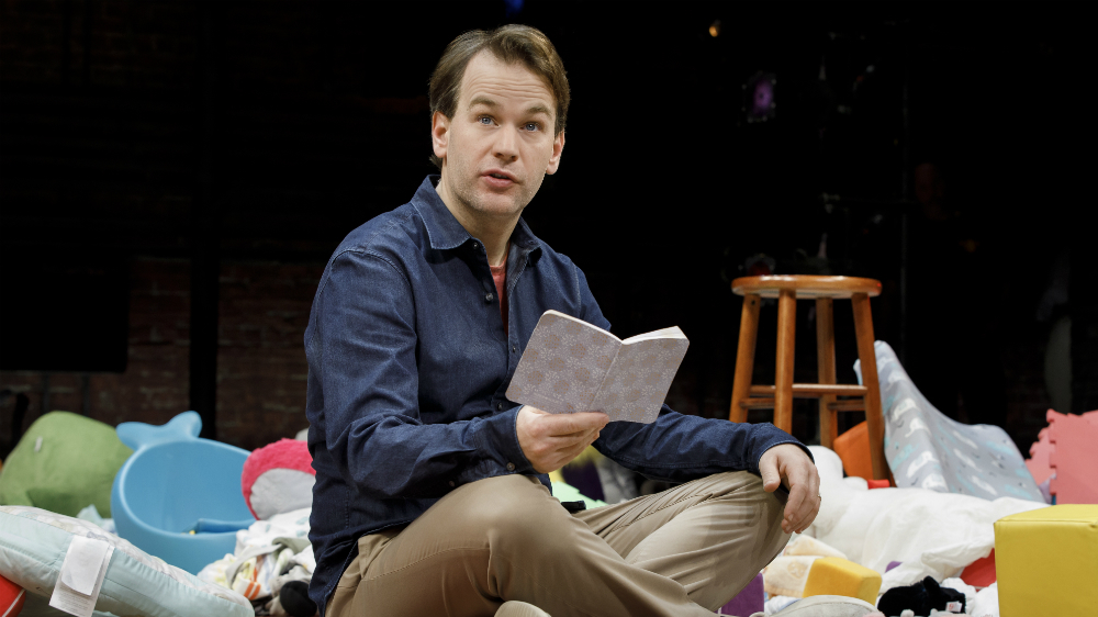 "Mike Birbiglia in ""The New One"". Photo Credit: Joan Marcus."