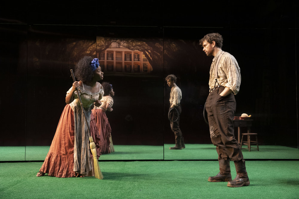 """Teyonah Parris and Paul Alexander Nolan in the opening moments of """"Slave Play"""". Photo Credit: Joan Marcus"""