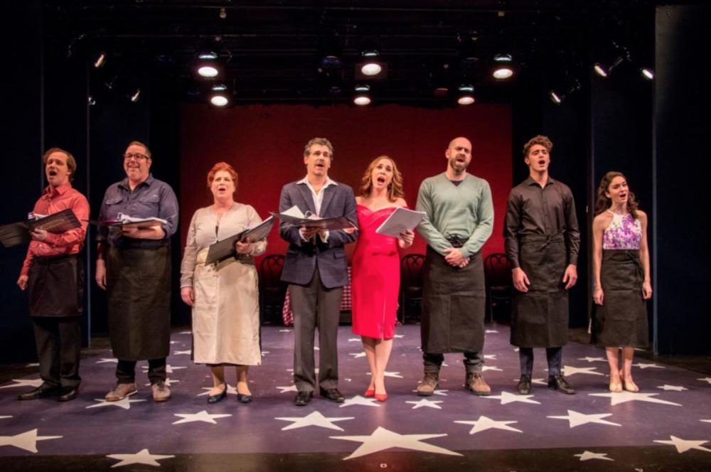 "The cast of ""Carmelina"". Photo Credit: Ben Strothmann."