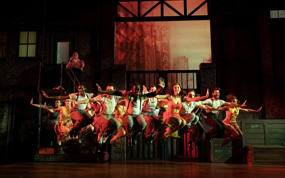 """James T. Lane and the company of """"Kiss Me, Kate"""" perform """"Too Darn Hot"""". Photo Credit: Joan Marcus"""