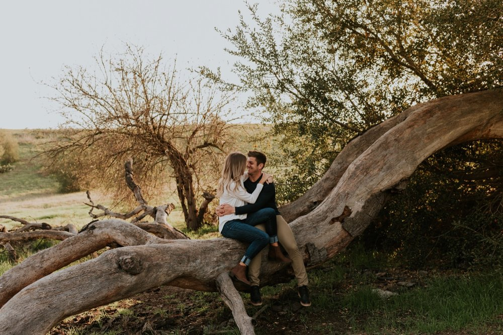 orange county california engagement couples session