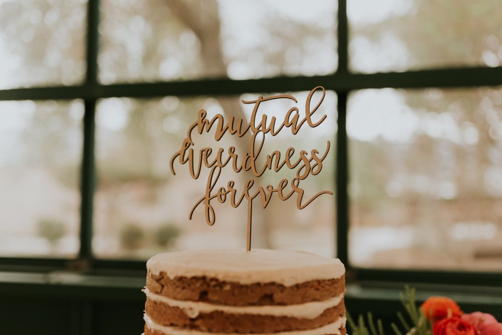 Santa Barbara Wedding at the Carousel House   Reception Details   Wedding Cake Topper   Carrie Rogers Photography