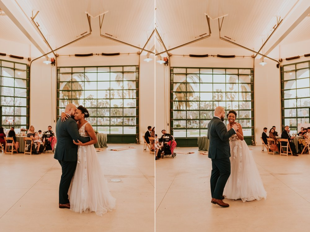 Santa Barbara Wedding at the Carousel House   First Dance   Wedding Reception   Carrie Rogers Photography