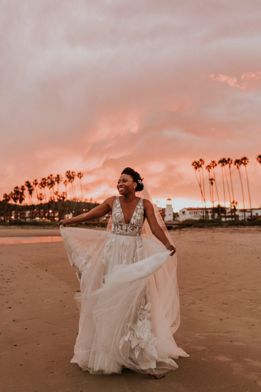 Santa Barbara Wedding at the Carousel House   Sunset Beach Wedding Portraits   Carrie Rogers Photography