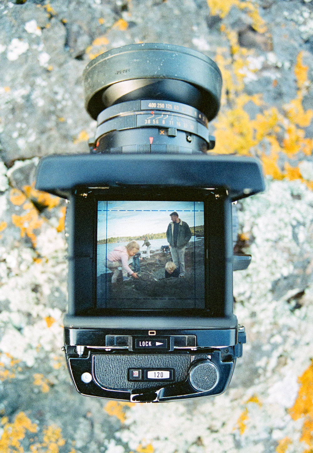 A film image taken of a film camera….very meta.