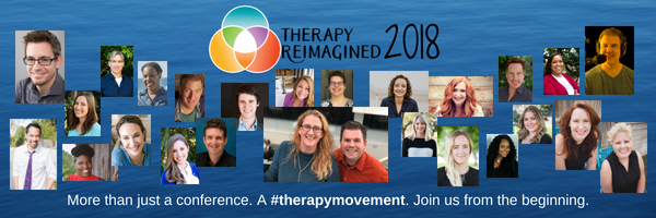 """Can you find me? I'm in the middle under the """"G"""" in Therapy ReimaGined! I'm so honored and thrilled to be speaking!"""
