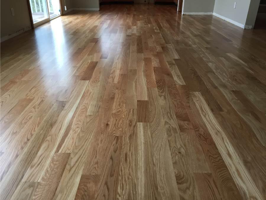 White Oak Wood Floor In Dining Room