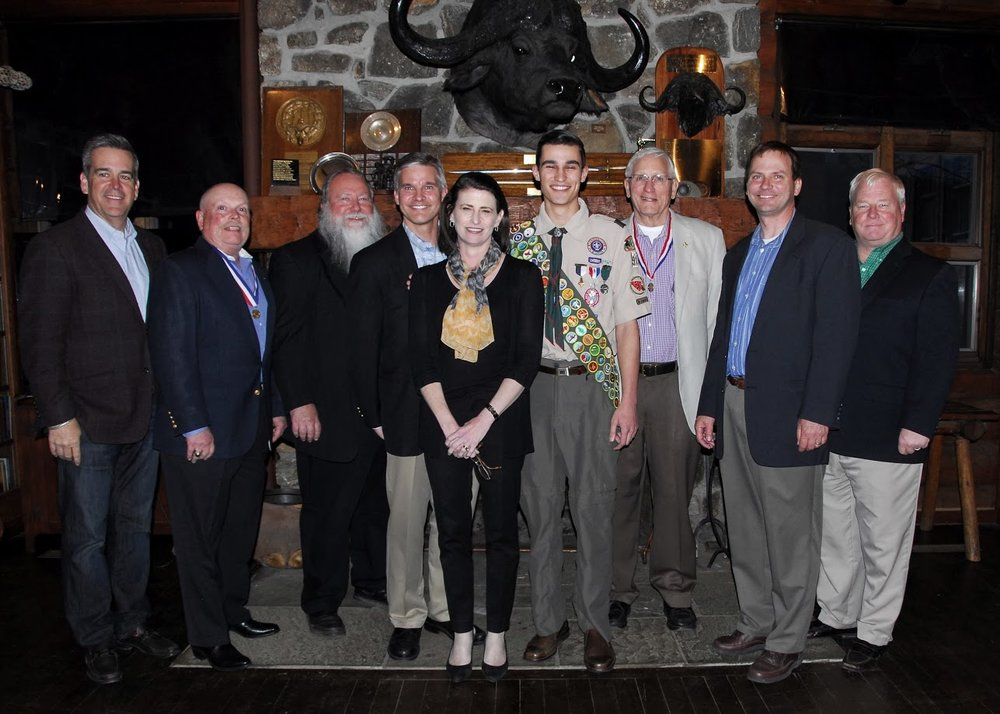 Nat'l BSA Conservation Committee, my parents, and me