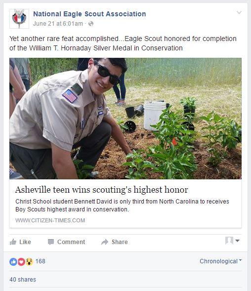 National Eagle Scout Association Recognization