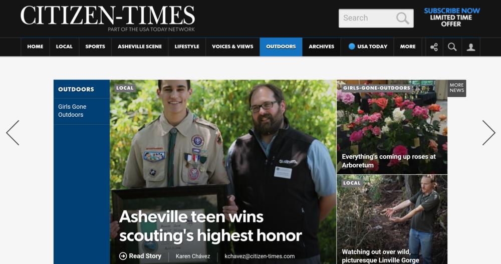 Asheville Citizen-Times Article