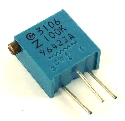 Variable Resistor - A 10K Ohm resistor or trimpot works well.