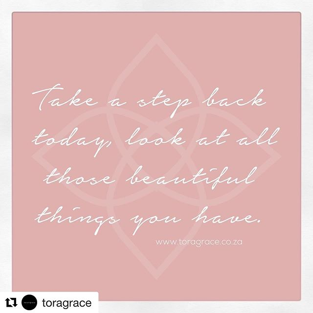 "#Repost @toragrace with @get_repost ・・・ ""Take a step back today, look at all those beautiful things you have."" . . Today we are resetting, relaxing, going on a little adventure and just enjoying the simple things. Sometimes a slow Saturday with the specials in your life is just what your soul needs. It is easy to get caught up in the stress of a busy week and sometimes you just need to pause, realize that not everything is in your control and appreciate the little things and special people in your life. We hope that your Saturday brings you some happiness and peace too 😘 . . PS also we are so super blessed to have had some of the most amazing and loving clients this week, your support and kindness is so dearly appreciated 🤗 . . #saturdaymood #weekendtherapy #quoteswelove #appreciationpost #appreciatewhatyouhave #itsthelittlethings #prettyinspirations #toragrace #family #friends #kindness #bekind #teamworkmakesthedreamwork @venetiaberndt  @eske_meyer #kindpeoplearemykindapeople #reset #soultherapy #momentrepreneur #wifemomboss #december"