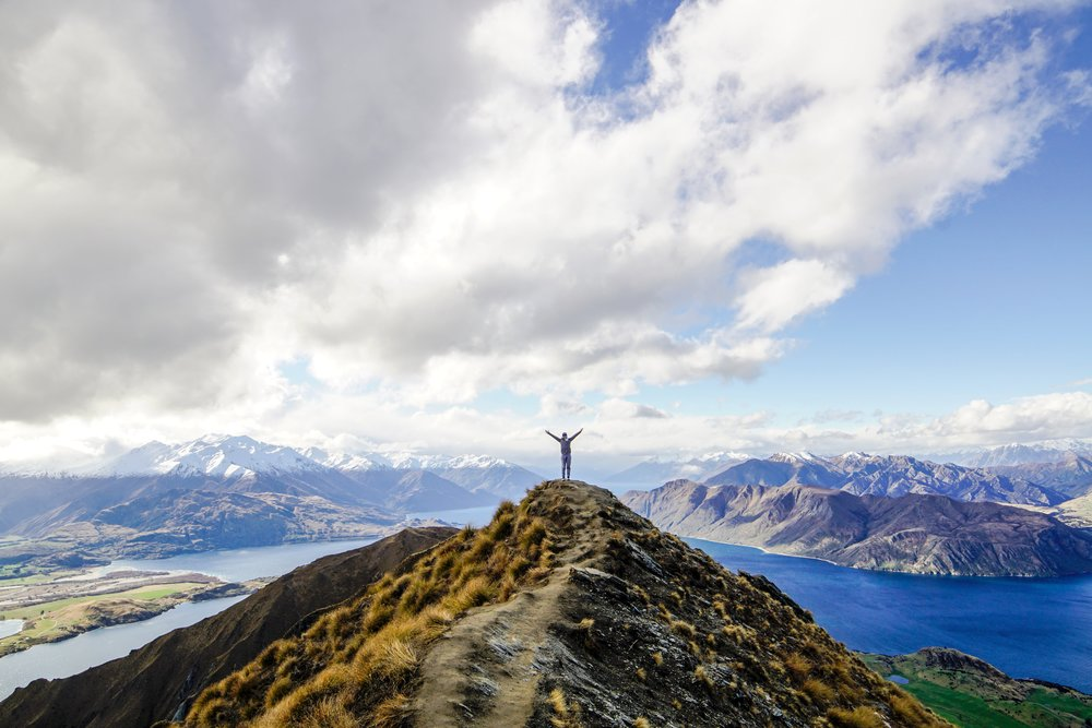 Top of the world: Roy's Peak