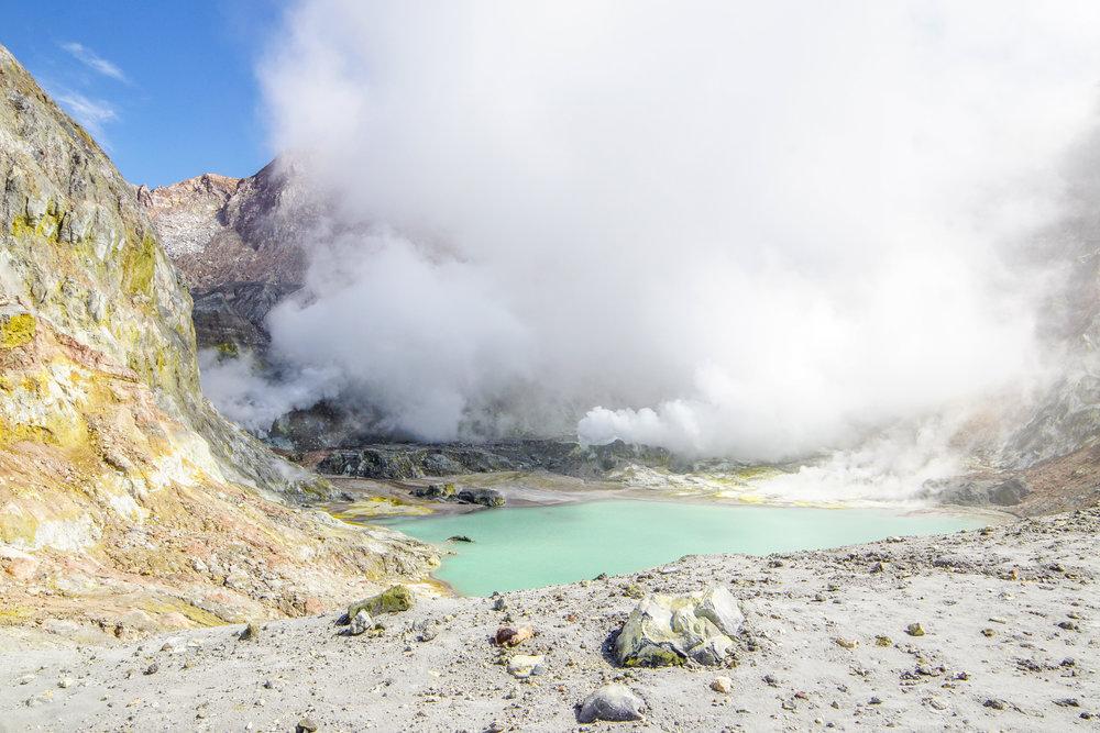 Volcanic acid lake of White Island