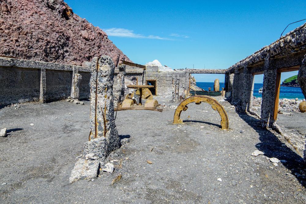 Abandoned sulphur mine of White Island