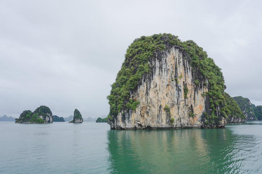 Limestone Karst formation - Ha Long Bay
