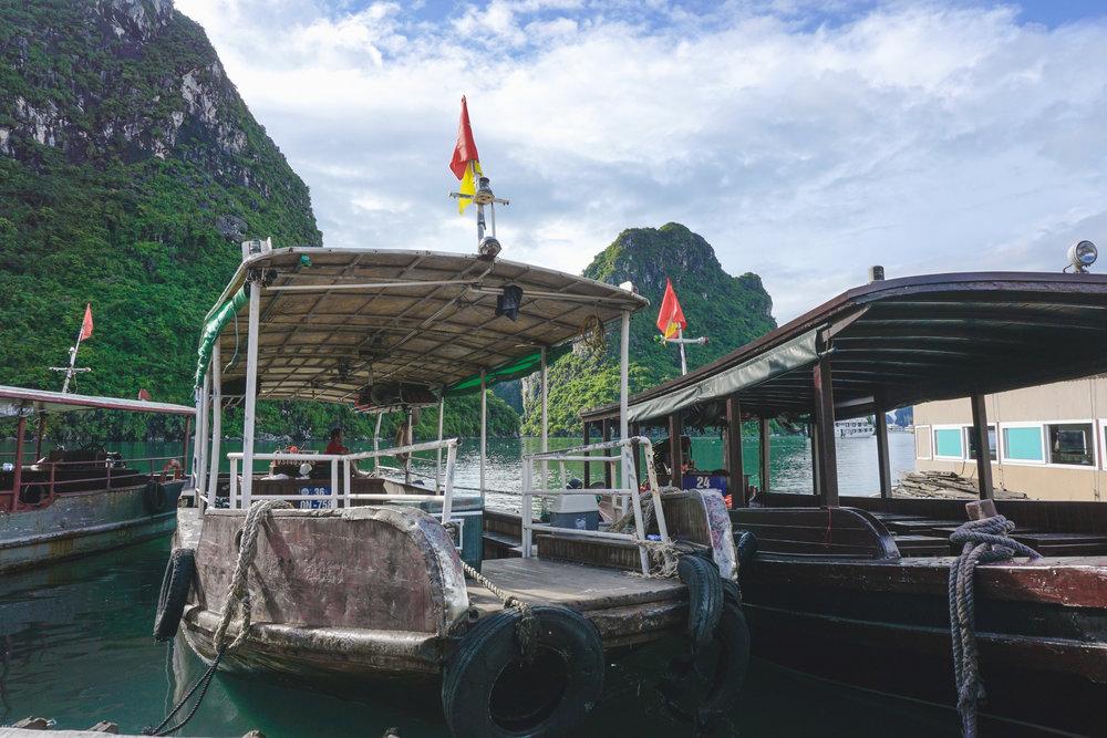 Villager boats at Ha Long Bay