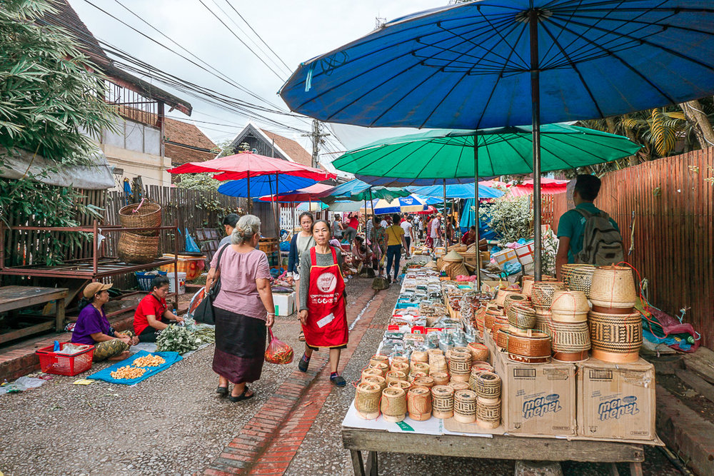 Local morning market - Luang prabang