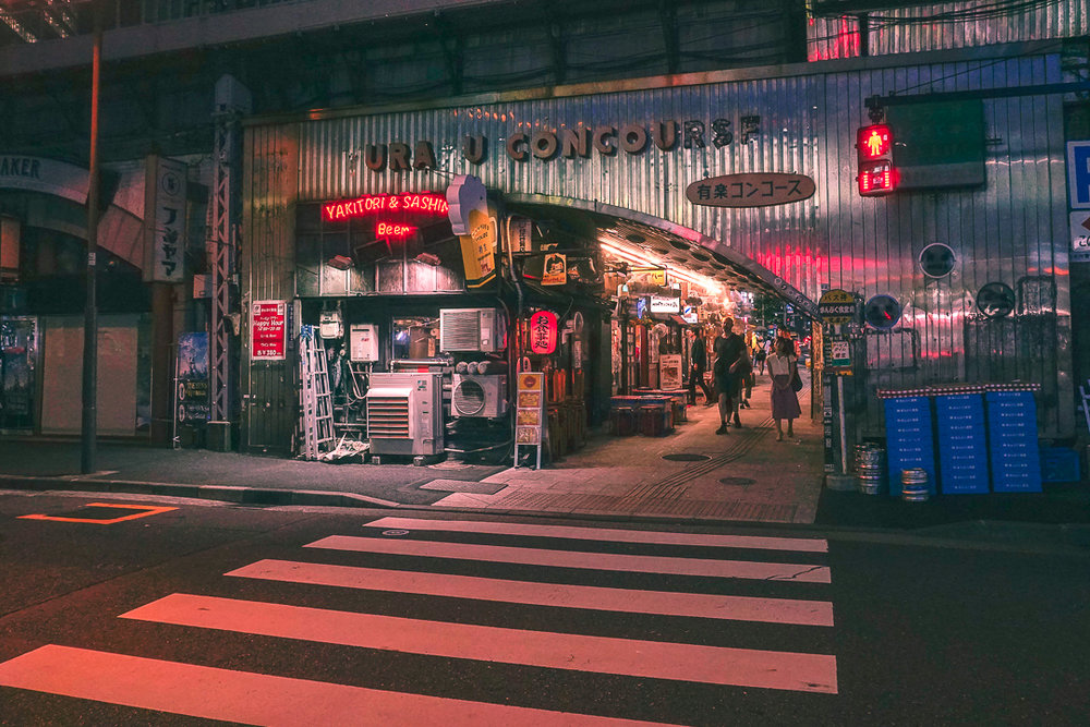 Walking through Tokyo