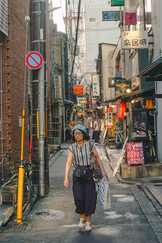 Women wandering the streets of Kyoto