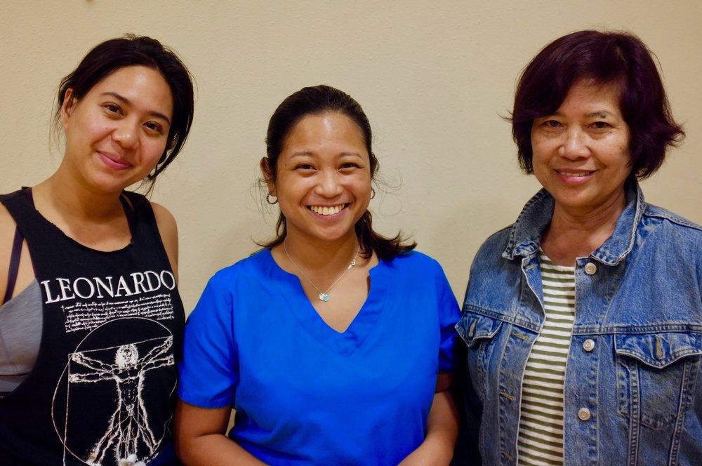 Lauren Garcia, Akiko Antionette, and Rose Almario