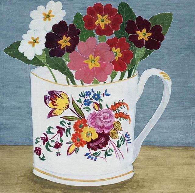 DebbieGeorgepaintedcupwithflowers.JPG